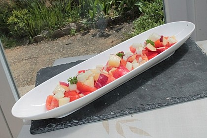 Paprika-Pfirsich-Salat 16