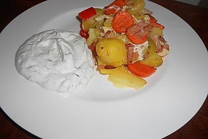 Kartoffel-Gemüsetortilla mit Kräuterquark 5