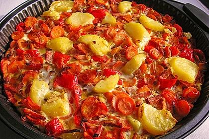 Kartoffel-Gemüsetortilla mit Kräuterquark 2