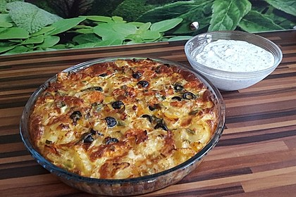 Kartoffel-Gemüsetortilla mit Kräuterquark 4