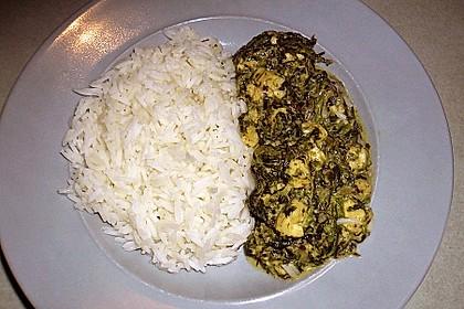 Indisches Spinatcurry mit Käse