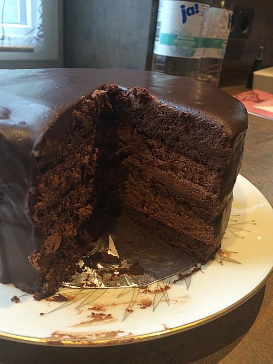 Amerikanische Einfach Unwiderstehliche Schokoladen Truffel Torte