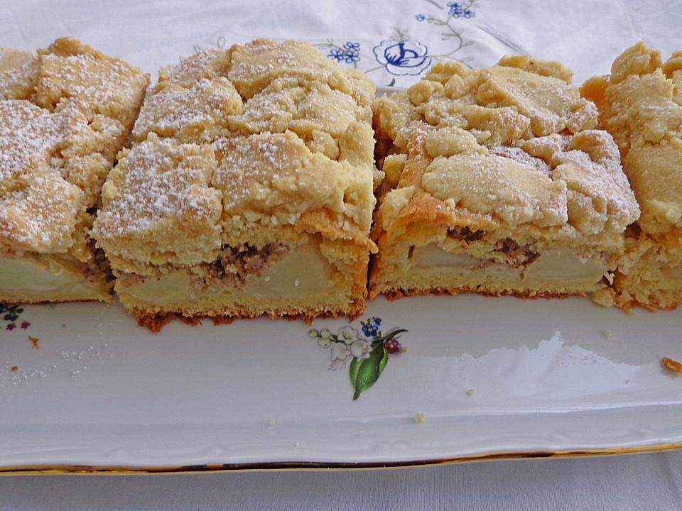 Schlesischer Apfel Streusel Hefeteigkuchen Von Brisane Chefkoch De