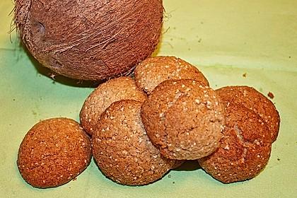 Kokos-Amaranth-Plätzchen (Bild)