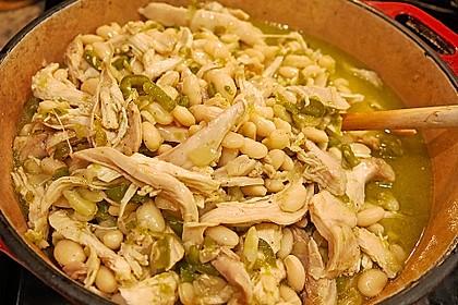 Weißes Chili mit Huhn