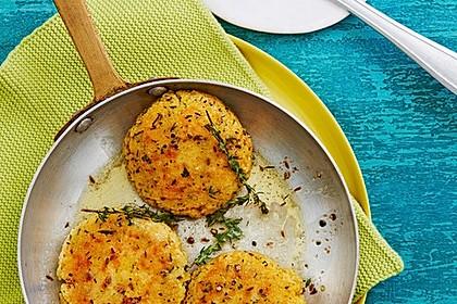 Couscous-Bratlinge mit Käse 2