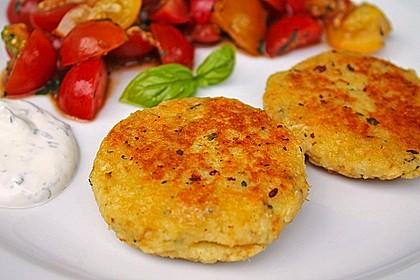 Couscous-Bratlinge mit Käse 1