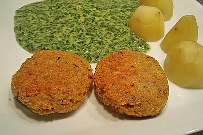 Couscous-Bratlinge mit Käse 47