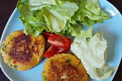 Couscous-Bratlinge mit Käse 71