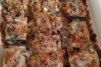 Auberginen-Cannelloni mit Hackfleischsauce 2