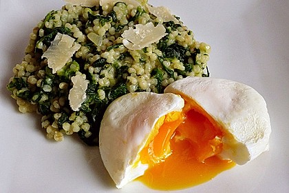 Spinat-Graupen-Risotto
