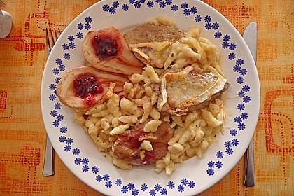 Schweinefilet-Gnocchi-Birnen-Preiselbeer-Brie-Gratin 21