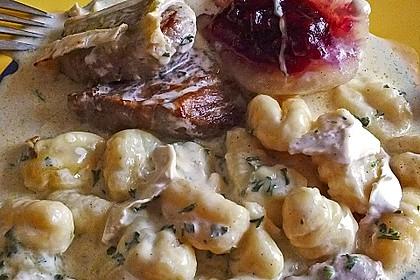 Schweinefilet-Gnocchi-Birnen-Preiselbeer-Brie-Gratin 15