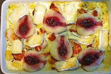 Schweinefilet-Gnocchi-Birnen-Preiselbeer-Brie-Gratin 12