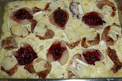 Schweinefilet-Gnocchi-Birnen-Preiselbeer-Brie-Gratin 19
