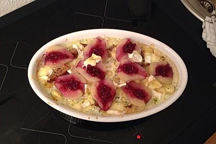 Schweinefilet-Gnocchi-Birnen-Preiselbeer-Brie-Gratin 44