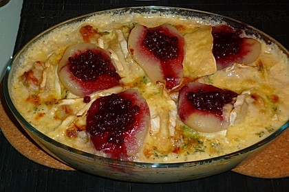 Schweinefilet-Gnocchi-Birnen-Preiselbeer-Brie-Gratin 22