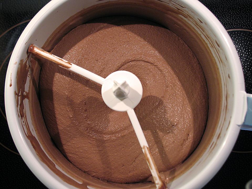 Schokoladen Eis Für Die Eismaschine