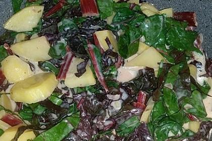 Kartoffel-Mangoldgemüse in Joghurtsauce (Bild)