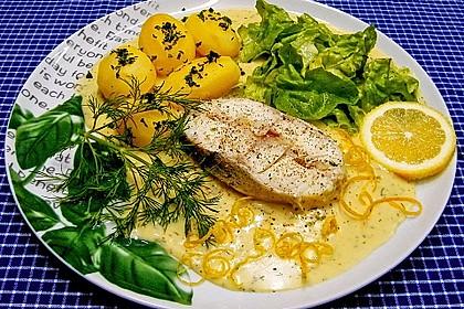 Kochfisch in Senfsoße