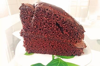 Amerikanischer Schokoladenkuchen extrem schokoladig - schokoladiger geht es nicht (Bild)