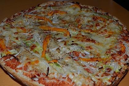 Fladenbrote mit mariniertem Gemüse und gegrilltem Mozzarella 1