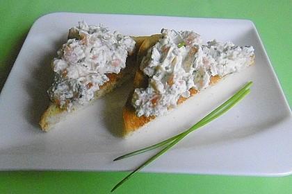 Frische Lachs-Frischkäse Snacks