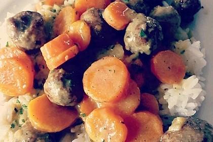 Hackbällchen in Möhren-Currysoße 55