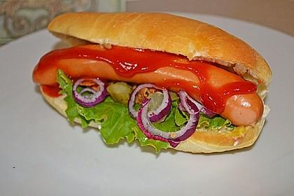 Amerikanische Hot Dog Buns Nr. 2 3