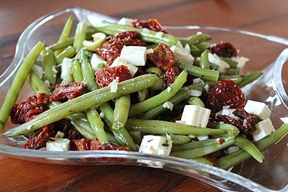 Grüner Bohnensalat mit getrockneten Tomaten 2