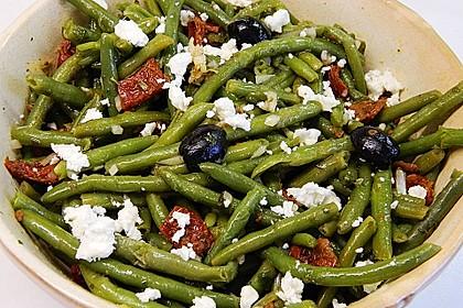 Grüner Bohnensalat mit getrockneten Tomaten 1