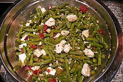 Grüner Bohnensalat mit getrockneten Tomaten 5