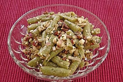 Grüner Bohnensalat mit getrockneten Tomaten 7