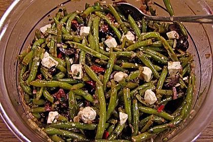 Grüner Bohnensalat mit getrockneten Tomaten 6