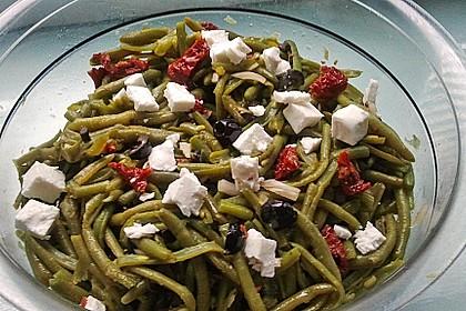 Grüner Bohnensalat mit getrockneten Tomaten 4