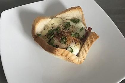 Gebackene Toast-Muffins mit Ei und Speck 58