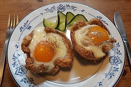 Gebackene Toast-Muffins mit Ei und Speck 18