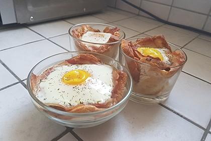 Gebackene Toast-Muffins mit Ei und Speck 47