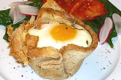 Gebackene Toast-Muffins mit Ei und Speck 19