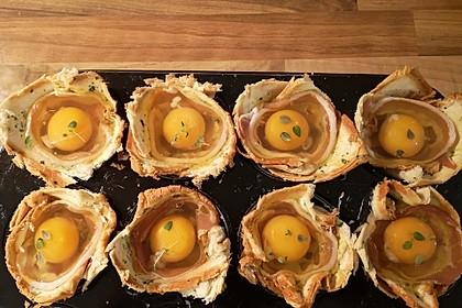 Gebackene Toast-Muffins mit Ei und Speck 36