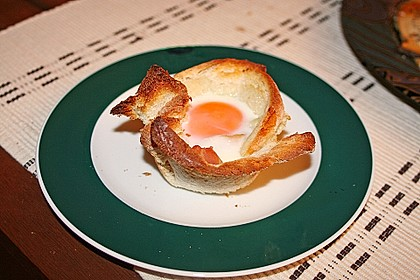 Gebackene Toast-Muffins mit Ei und Speck 24