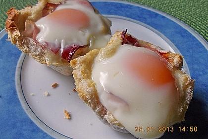 Gebackene Toast-Muffins mit Ei und Speck 25