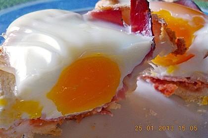 Gebackene Toast-Muffins mit Ei und Speck 13