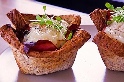 Gebackene Toast-Muffins mit Ei und Speck 3