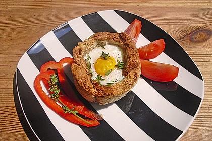 Gebackene Toast-Muffins mit Ei und Speck 17