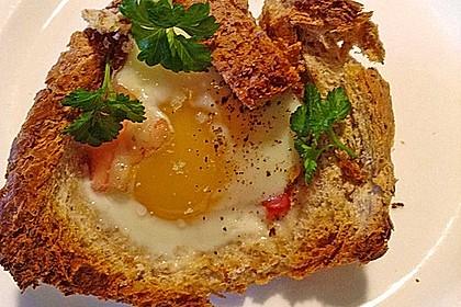 Gebackene Toast-Muffins mit Ei und Speck 31