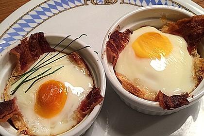 Gebackene Toast-Muffins mit Ei und Speck 21