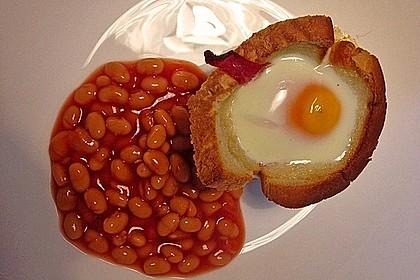 Gebackene Toast-Muffins mit Ei und Speck 28