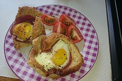 Gebackene Toast-Muffins mit Ei und Speck 33