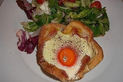 Gebackene Toast-Muffins mit Ei und Speck 6